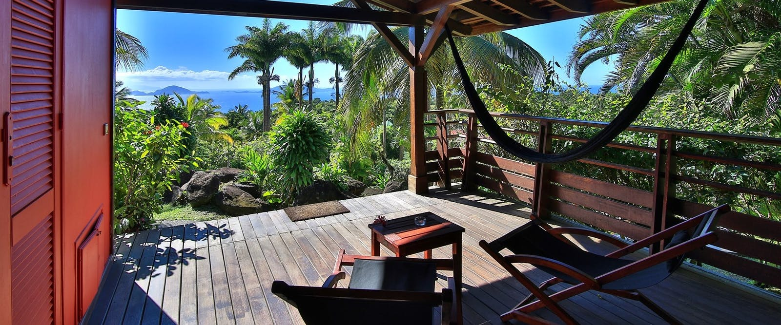Cottage Terrace at Le Jardin Malanga Hotel, Guadeloupe