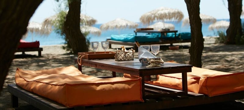 beach side lounge area, Lindian Village, Rhodes
