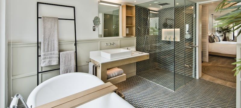 Junior suite Bathroom at LUX Grand Gaube
