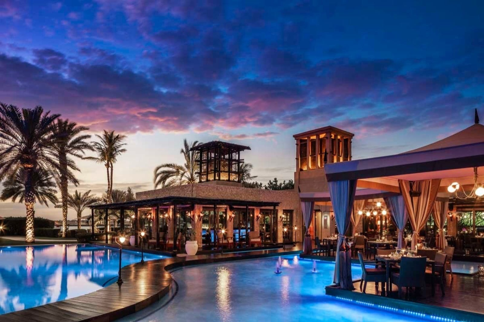 Eauzone Restaurant at One&Only Royal Mirage, Dubai