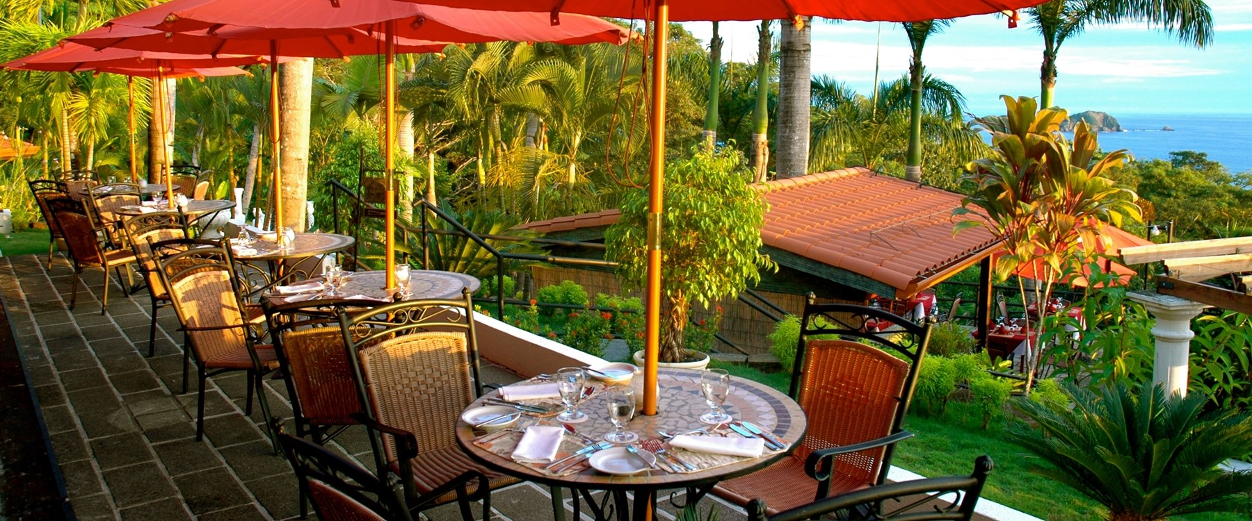 Terrace dining at Parador Resort & Spa