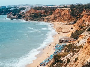 Beach area at Pine Cliffs - A Luxury Collection Resort, Portugal
