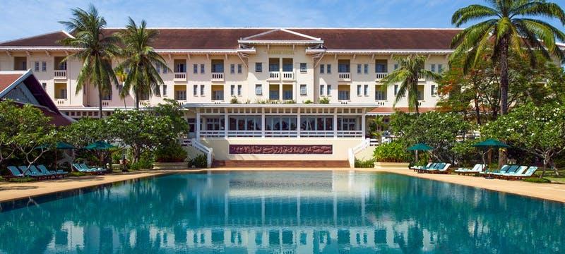 pool view at Raffles Grand Hotel d'Angkor, Cambodia