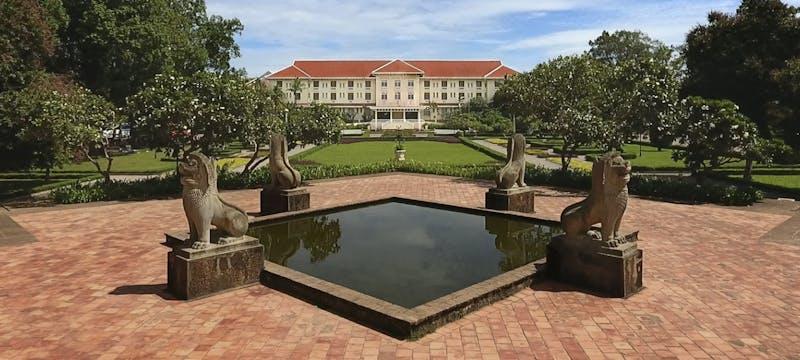hotel exterior at Raffles Grand Hotel d'Angkor, Cambodia