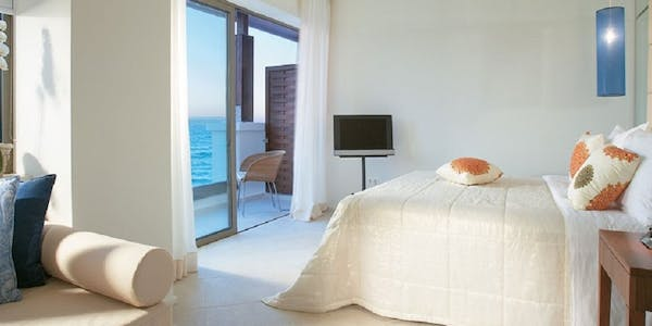 luxury guest room with sea view