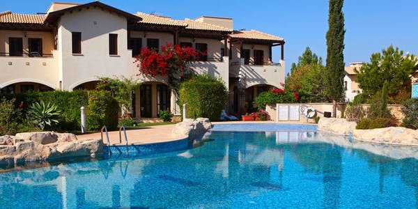 junior villa with a communal pool