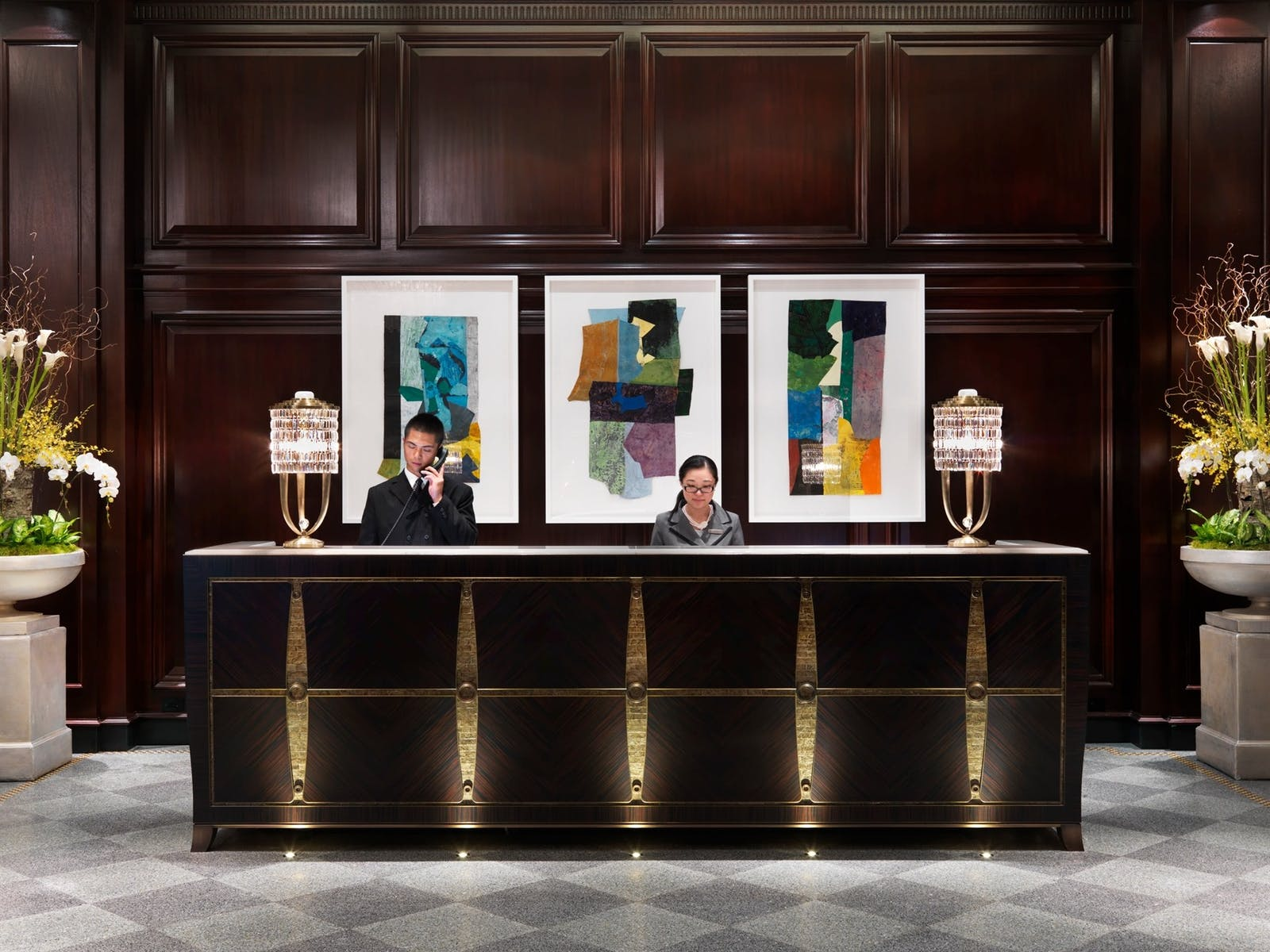 front desk at rosewood hotel georgia