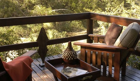 Private deck at sabi sabi little bush camp, south africa