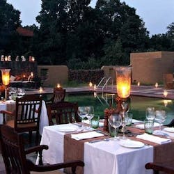 dining area at Samode Safari Lodge, India