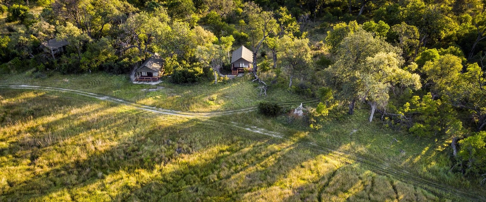 Aerial View of Sanctuary Stanley's Camp, Botswana