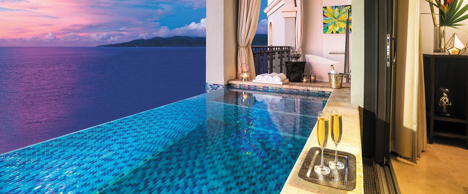 Private Infinity Pool at Sandals LaSource Grenada Resort & Spa, Grenada