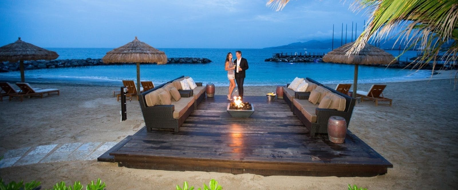 Beach Firepit at Sandals LaSource Grenada Resort & Spa, Grenada
