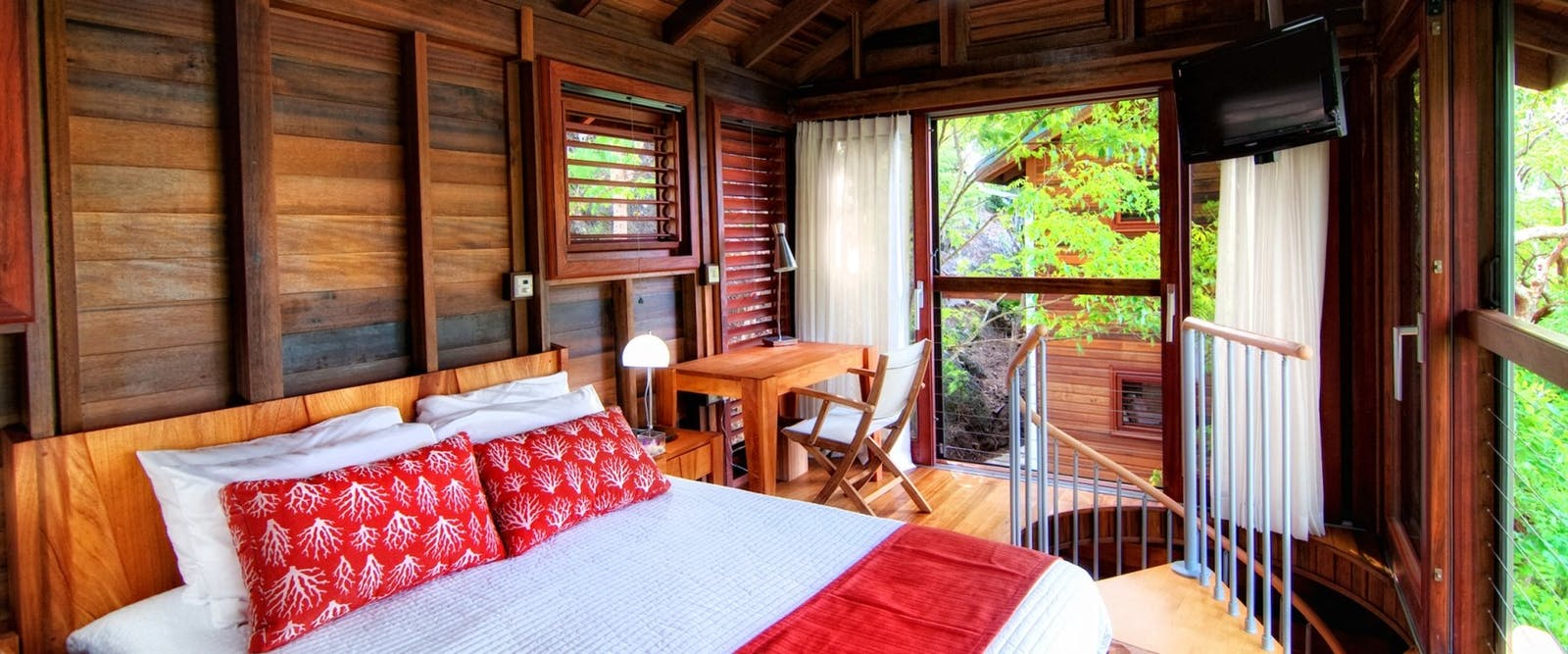 Bungalow Bedroom at Secret Bay, Dominica