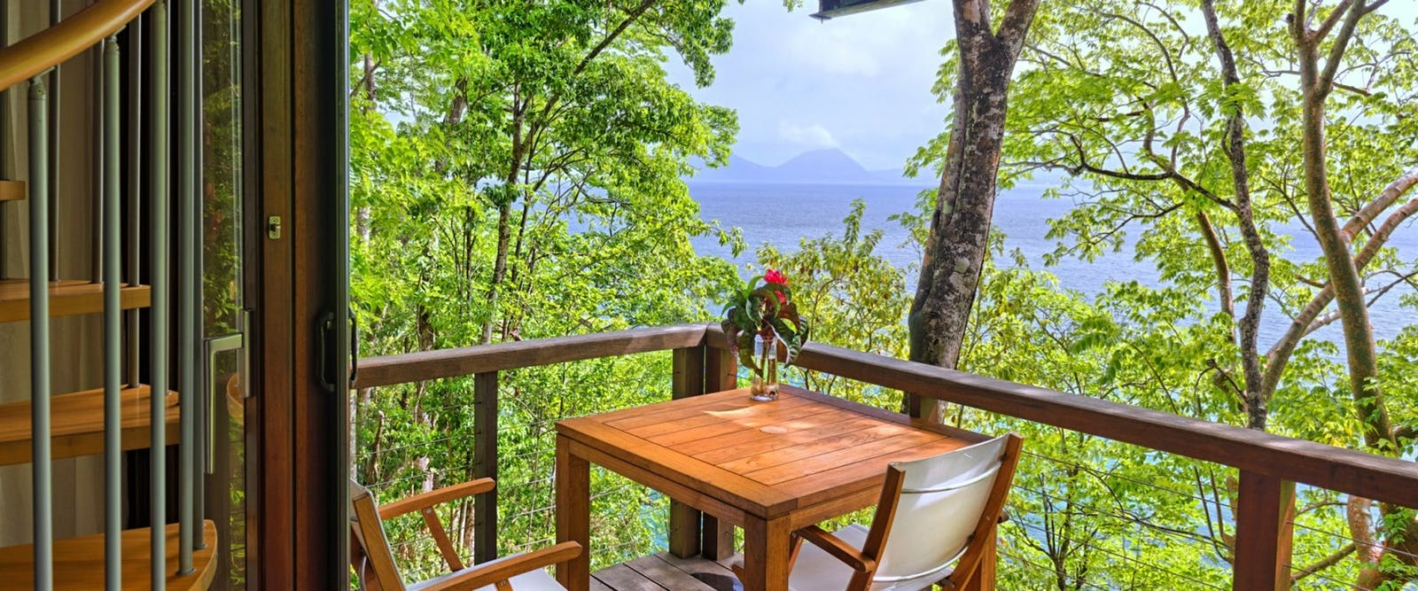 Terrace with Beautiful View at Secret Bay, Dominica