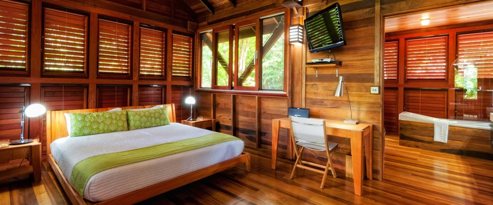 Bedroom in Zing Zing Villa at Secret Bay, Dominica