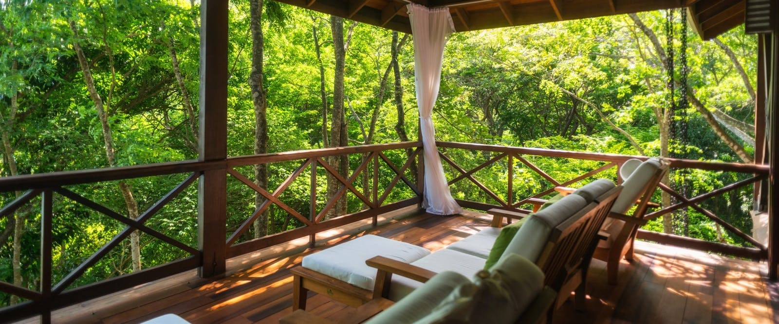 Private Terrace in Zing Zing Villa at Secret Bay, Dominica