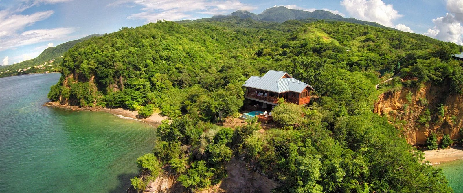 Aerial view of Villas at Secret Bay, Dominica