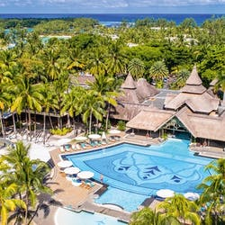 Aerial View of Shandrani Beachcomber Resort & Spa, Mauritius