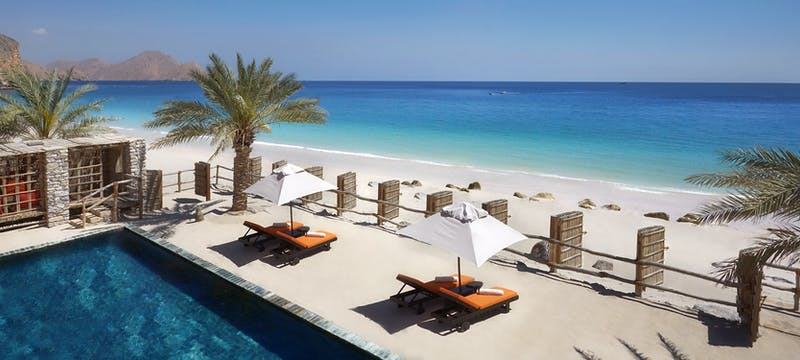 Private pool and patio, Six Senses  Zighy Bay, Oman