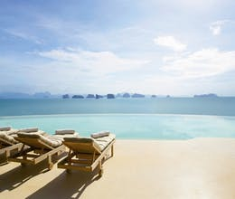 Gaze out over the iconic limestone pinnacles from the horizon pool at this Phuket resort<place>Six Senses Yao Noi</place><fomo>298</fomo>