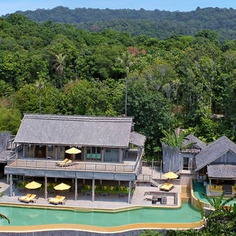 Pool view at Soneva Kiri