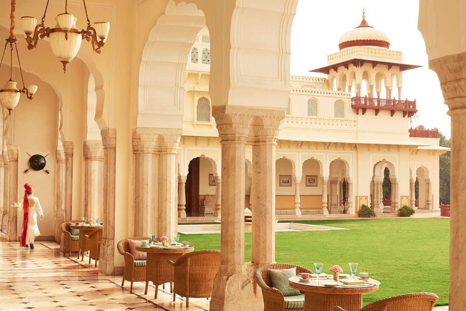 verandah cafe at rambagh palace jaipur
