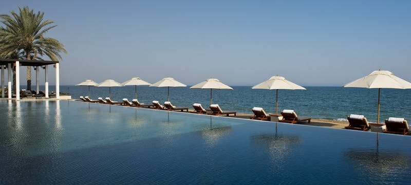 swimming pool and beach, The Chedi Muscat, Oman