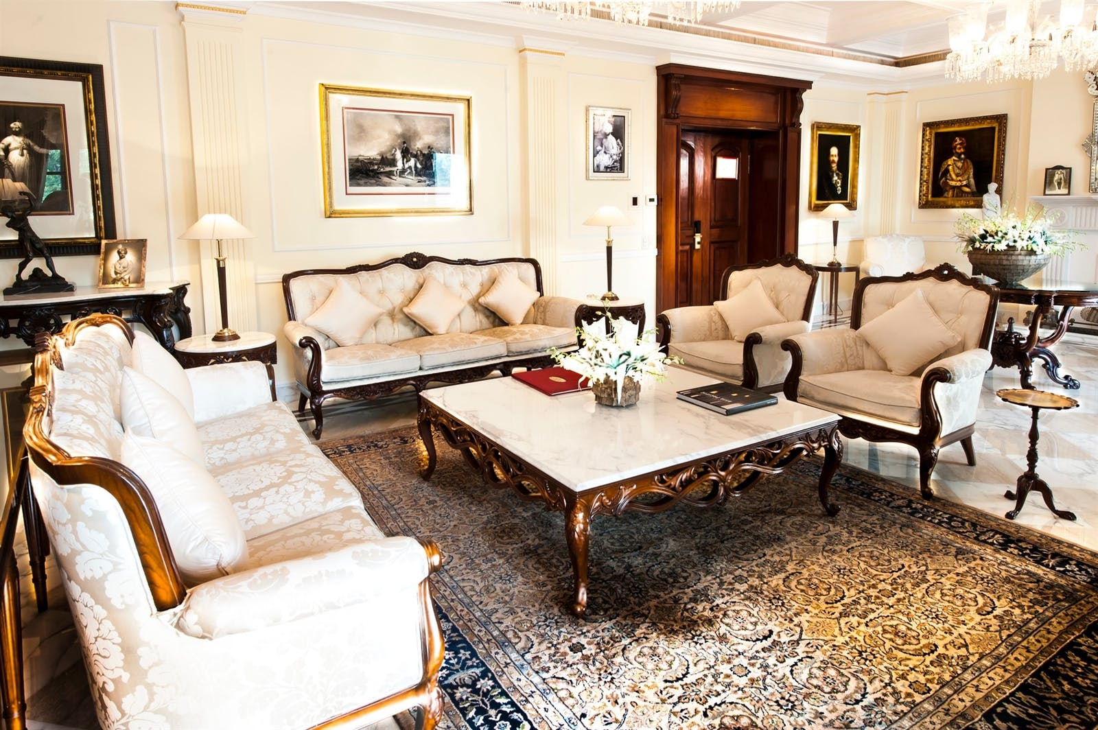royal imperial suite living room at the imperial new delhi