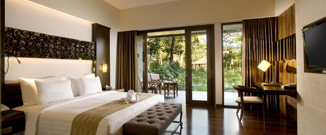 Guest bedroom at The Seminyak Beach Resort & Spa