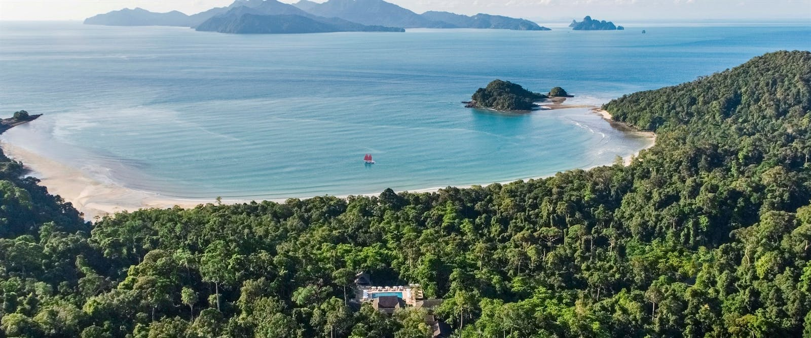 Aerial View of The Datai Langkawi, Malaysia