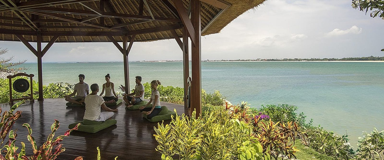 Meditation at nirvana shanti at Four Seasons Resort Bali at Jimbaran Bay