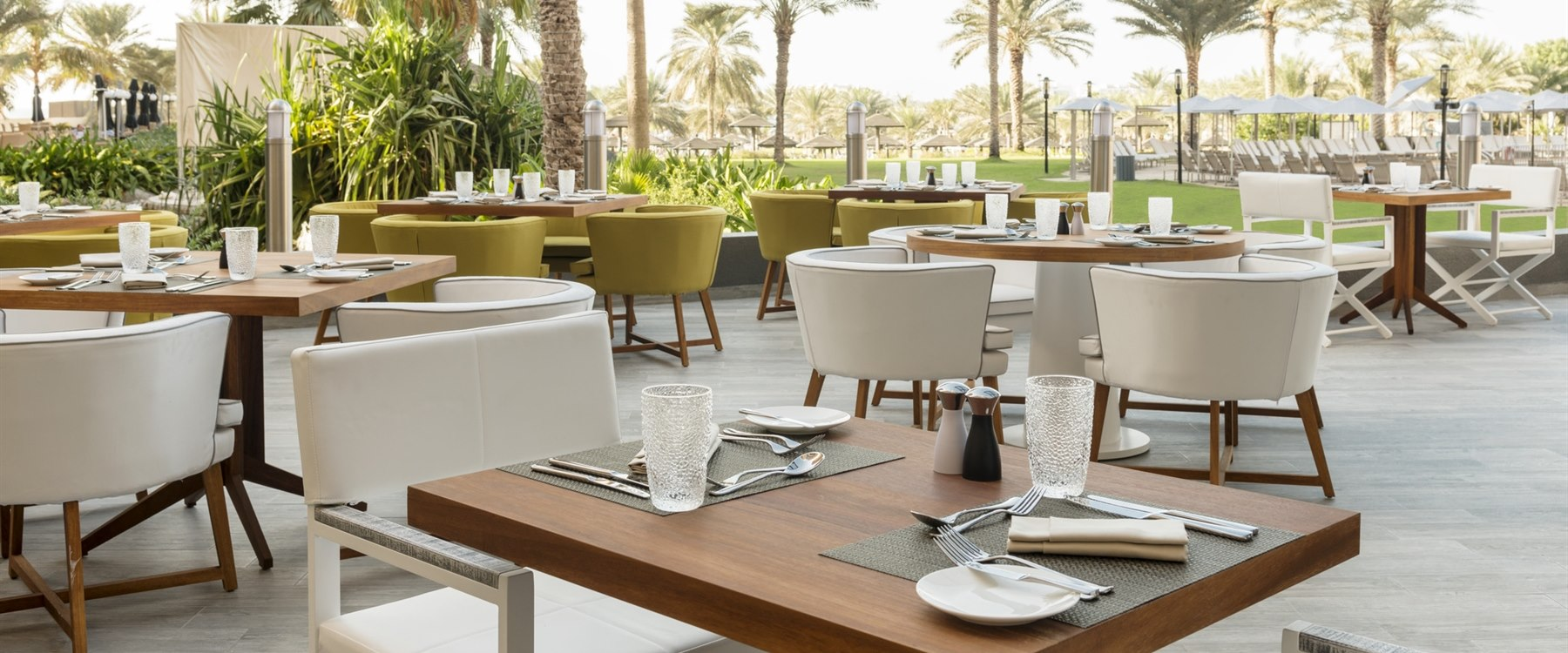 Terrace with Garden View at Le Royal Meridien Beach Resort & Spa