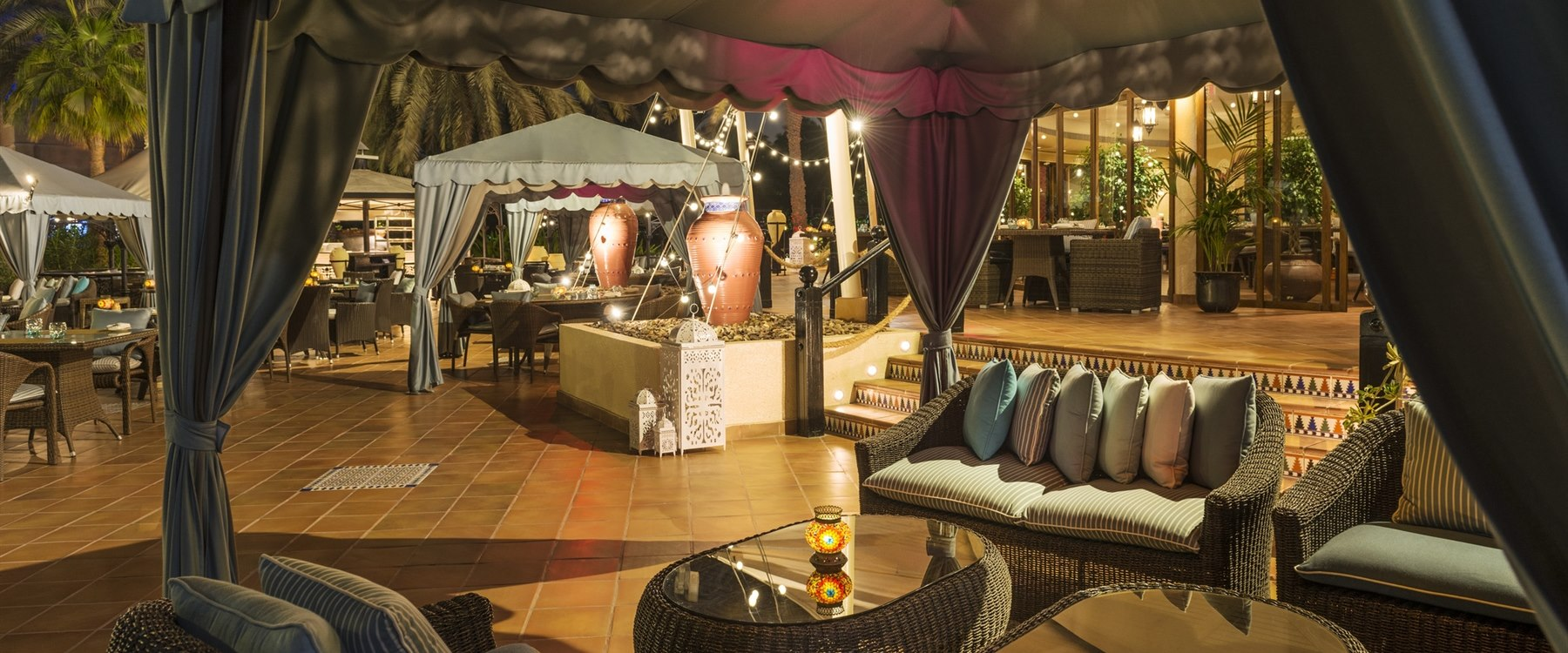 Tent Lounge at Le Royal Meridien Beach Resort & Spa