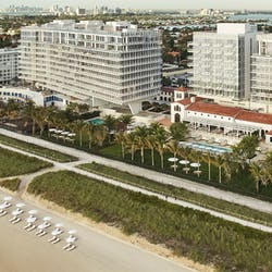 Aerial View of Four Seasons Hotel at The Surf Club, Surfside, Florida