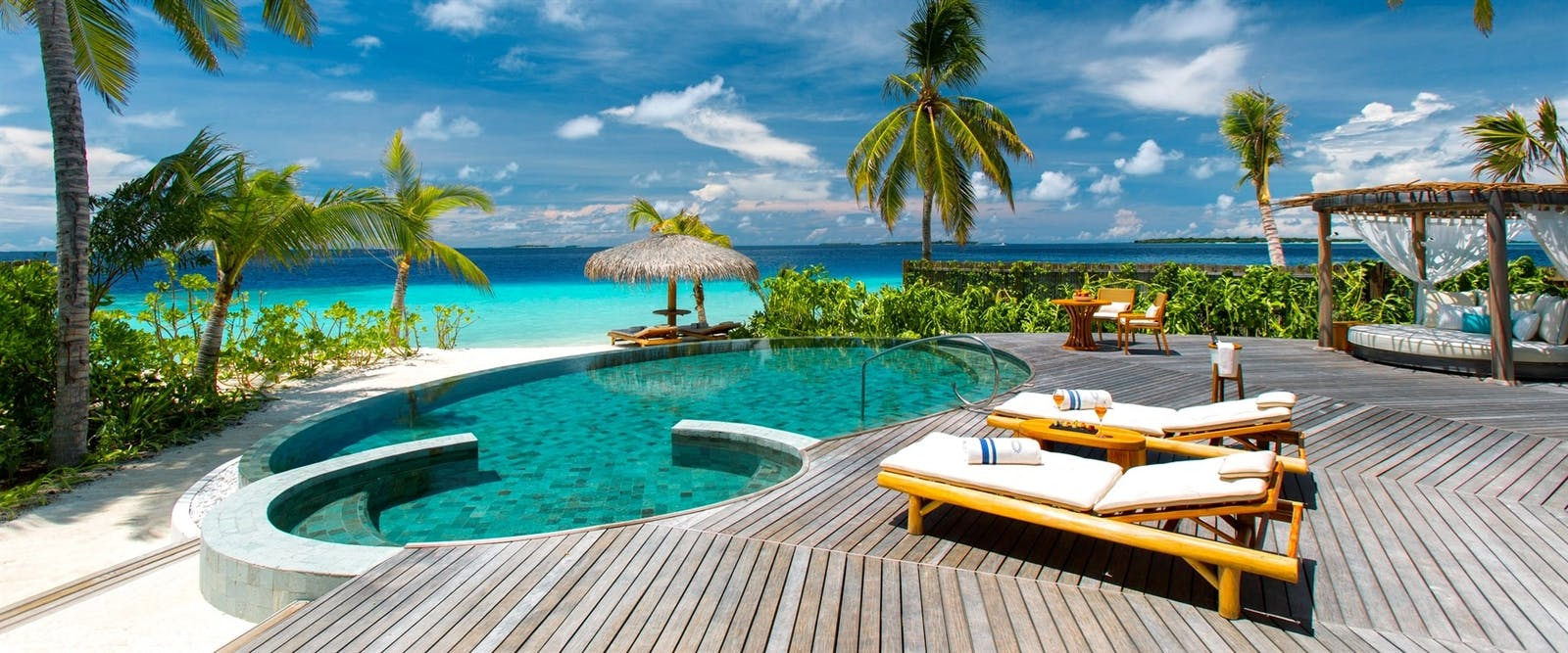 Beach Residence Pool at Milaidhoo, Maldives, Indian Ocean