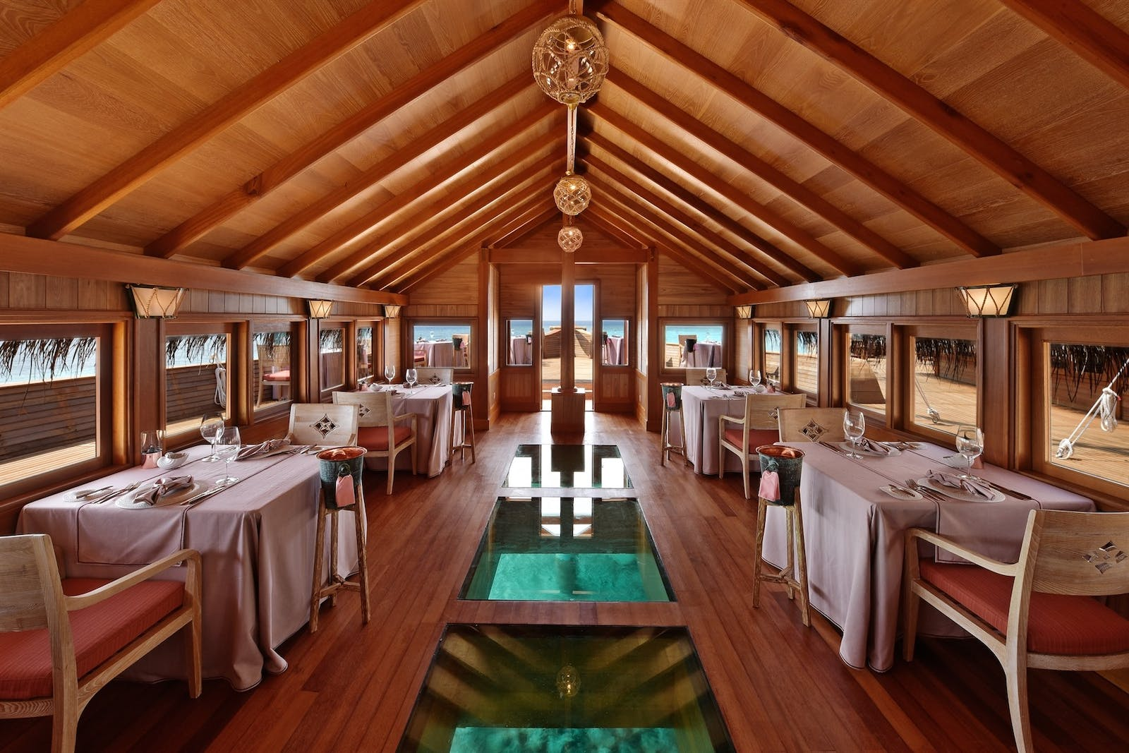 Indoor dining at Batheli Restairant, Milaidhoo, Maldives