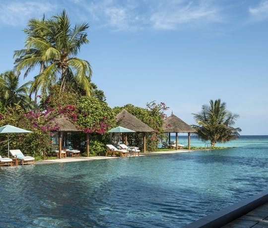 Swimming Pool at Four Seasons Resort Maldives at Landaa Giraavaru