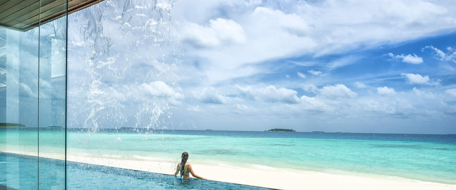 Three Bedroom Landaa Estate Pool at Four Seasons Resort Maldives at Landaa Giraavaru