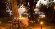 Outdoor dining at The Royal Livingstone by Anantara