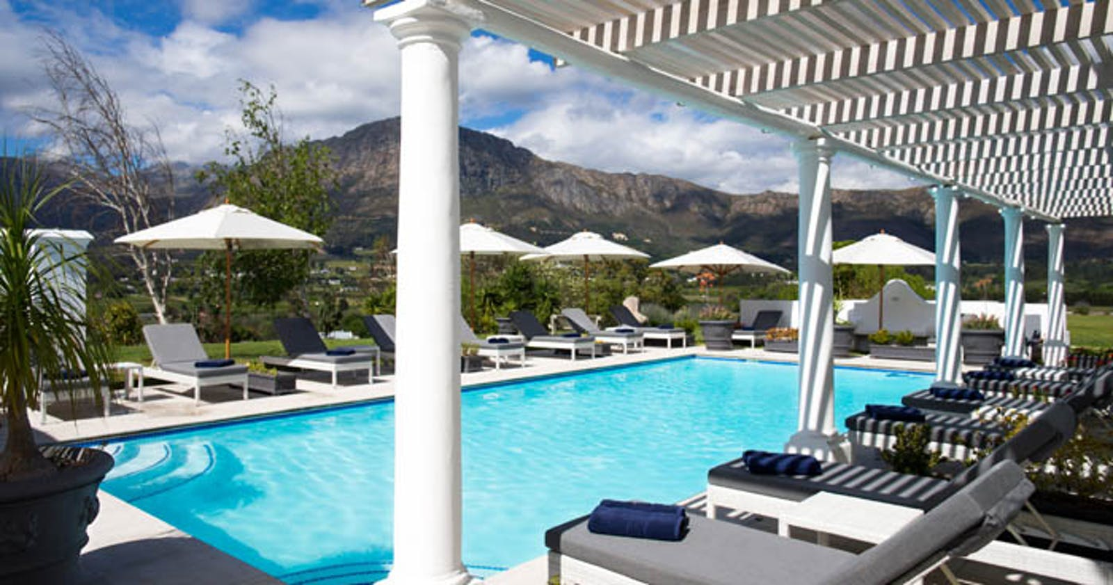 Pool at Mont Rochelle Hotel, Cape Town