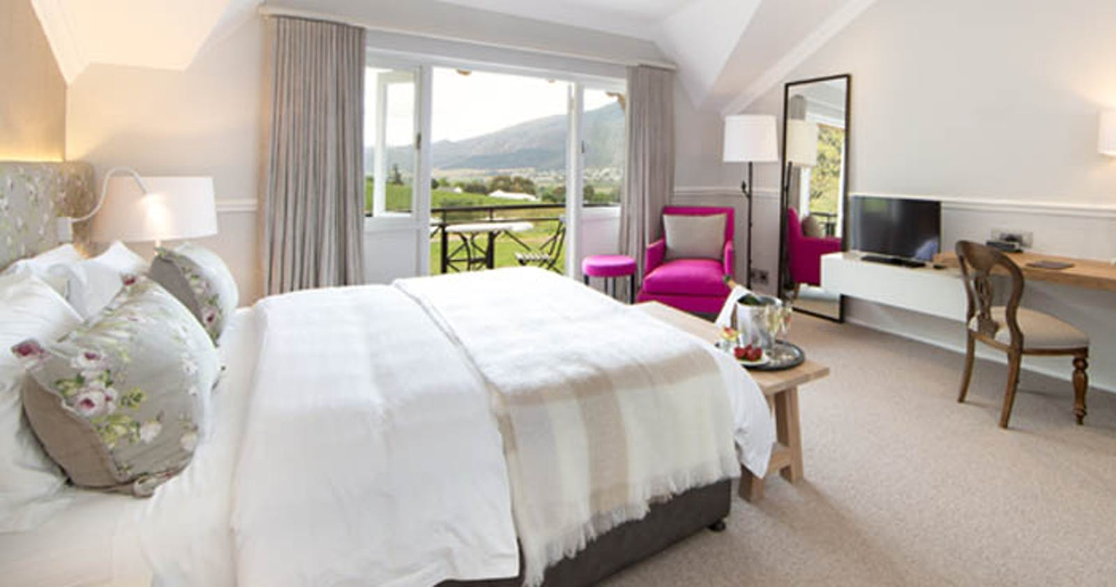 Bedroom at Mont Rochelle, Cape Town