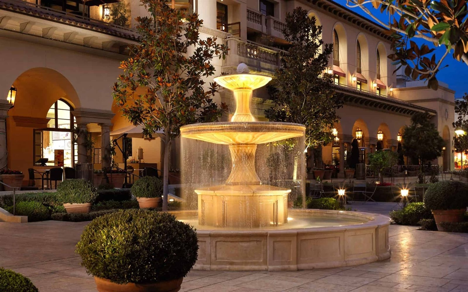 Garden Fountain at at Montage Beverly Hills, Los Angeles