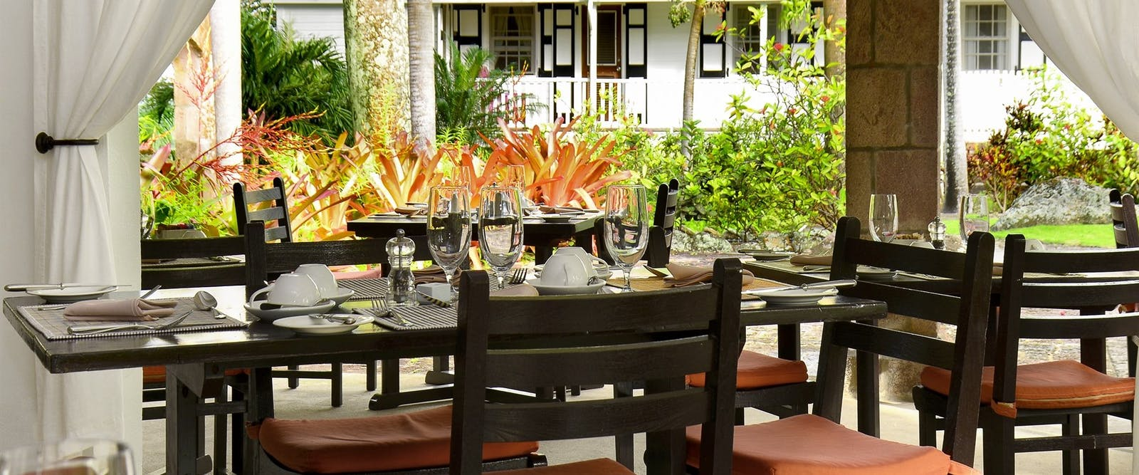 Breakfast Table Setting at Montpelier Plantation & Beach