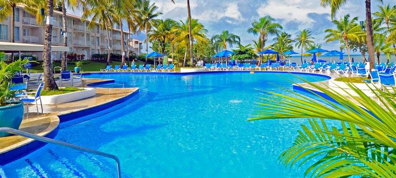 Main pool at St james's Club Morgan Bay, St Lucia