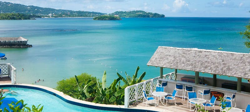 Over View of St james's Club Morgan Bay, St Lucia