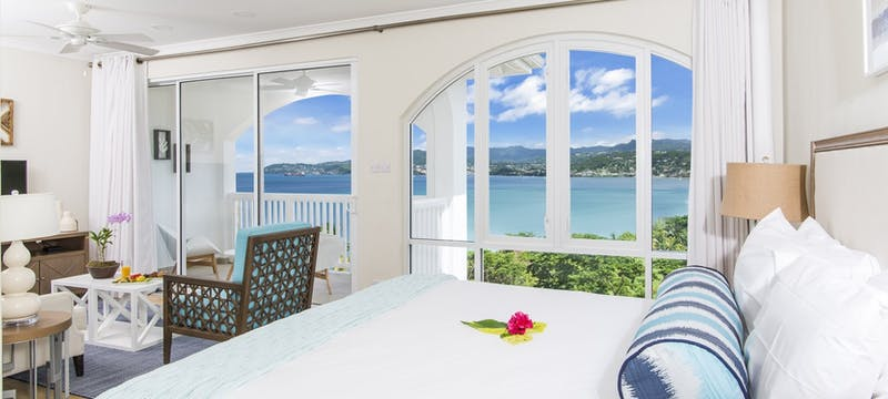 bedroom suite at mount cinnamon resort  beach club