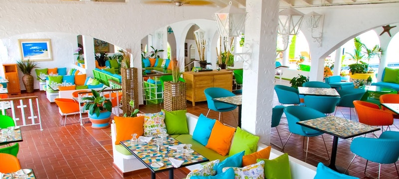 Savvy's clubhouse restaurant at Mount Cinnamon Resort & Beach Club, Grenada