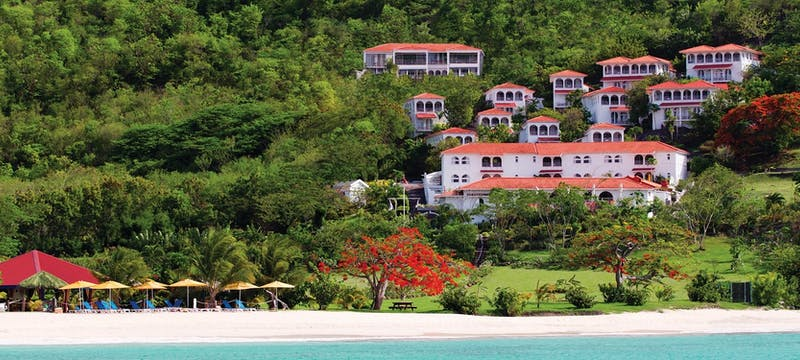 View from the bay of Mount Cinnamon Resort & Beach Club, Grenada