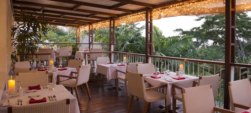 restaurant at mount cinnamon resort  beach club grenada