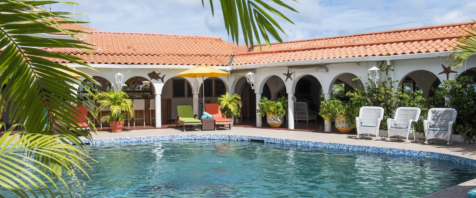 Savvy's Clubhouse and Pool at Mount Cinnamon, Grenada
